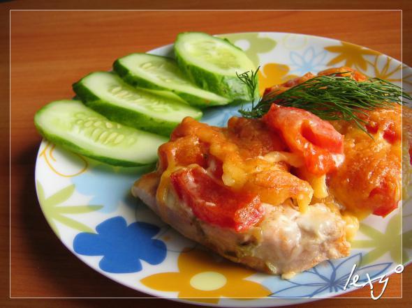 Мясо французски помидорами фото рецепт